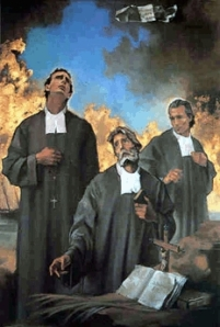 Jean-Baptiste Duverneuill, Michael Louis Brulard and James Gagnot - Martyrs of Rocheport